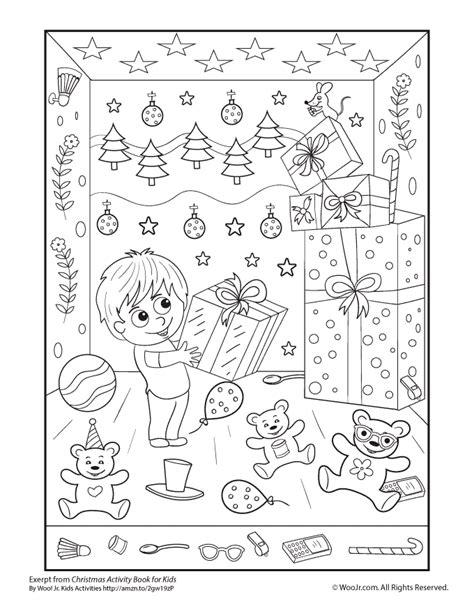hidden pictures christmas printable activity woo jr