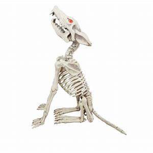 Home Accents Holiday 28 in Animated Howling Skeleton Wolf