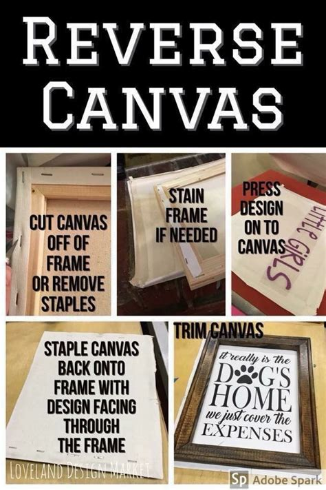reverse canvas cricut projects vinyl diy cricut diy
