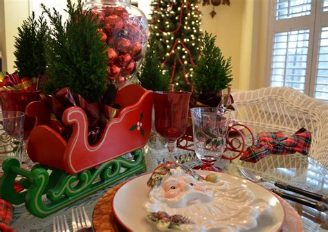 Santa Themed Tablescape With Santa Plates And A Sleigh Are Steam Mops Safe For Laminate Floors Can I Put Flooring Over Tile Vacuum Looks Like Stone Do Need An Underlayment Eco Forest Premium Walnut Floor