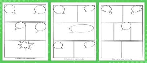 comics drawings template comic book template pdf image collections template