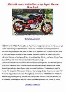 1988 1989 Honda Vtr250 Workshop Repair Manual By