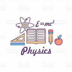 Vector Line Style School And Educations Colored Physics ...