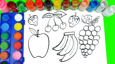 draw fruits  veggies coloring pages learn fruits