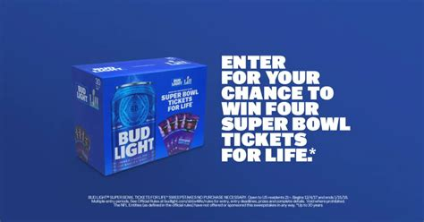 bud light superbowl sweepstakes bud light super bowl tickets for life contest winzily