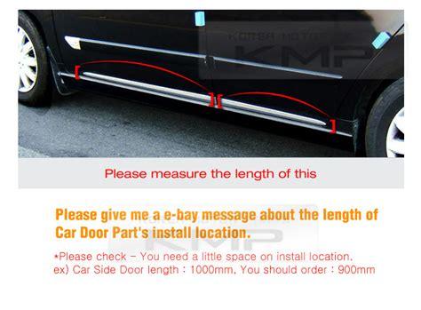 Chrome Side Skirt Door Line Sill Garnish Molding Trim Cover 4pcs For Skoda Car