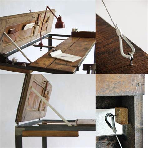 chaise bureau architecte meuble bureau industriel et bureau mural diy en 63 idées