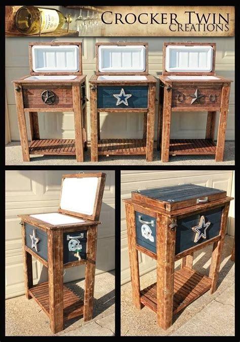 custom rustic coolers including dallas cowboys  crocker