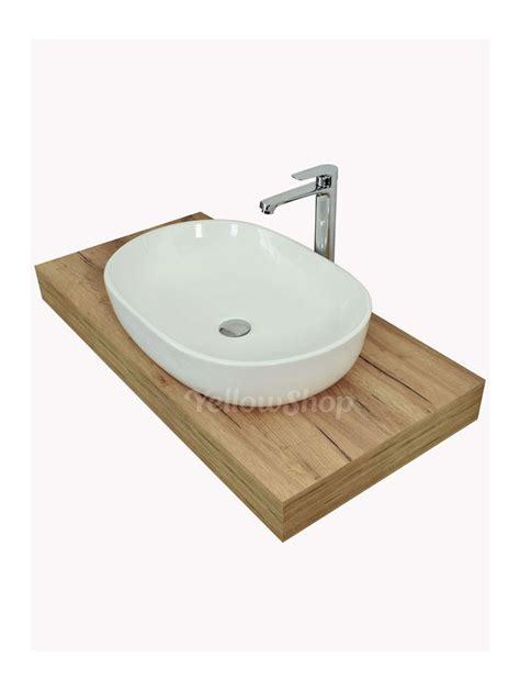 mensola per lavabo mensola per lavabo mensolone in legno cm 120x50xh10