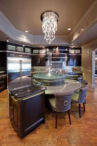 20, Modern, Kitchens, With, Curved, Kitchen, Islands