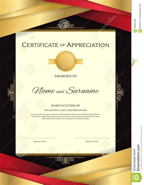 certificate templates with photos portrait luxury certificate template with elegant golden