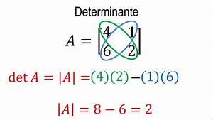 Determinante Berechnen 2x2 : determinante de una matriz 2x2 lgebra lineal youtube ~ Themetempest.com Abrechnung