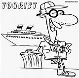 Tourist Coloring Colorings Sheet sketch template