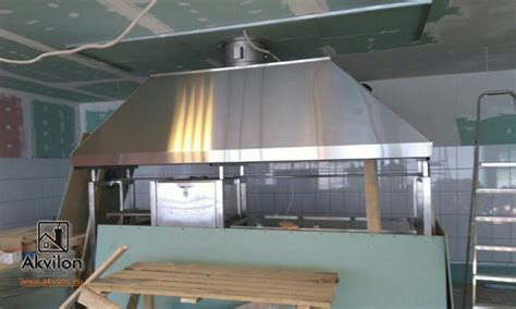 Kitchen professional exhaust hoods with filters. Kitchen