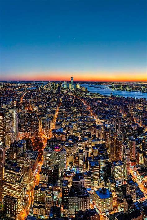 New York City At Sunset (by Fabian Schneider) Manhattan