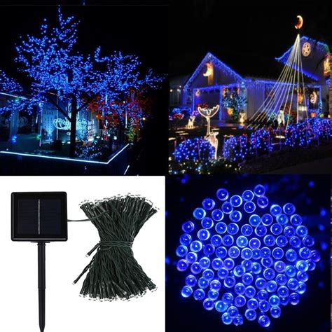 outdoor indoor blue white 818 led spiral tape pop up christmas tree 100 led solar string lights outdoor tree waterproof l blue ebay