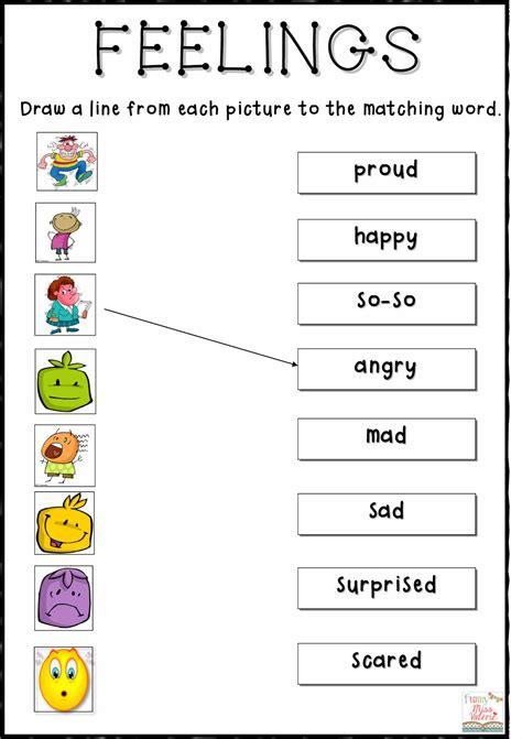 feelings worksheet activity worksheets miss val rie
