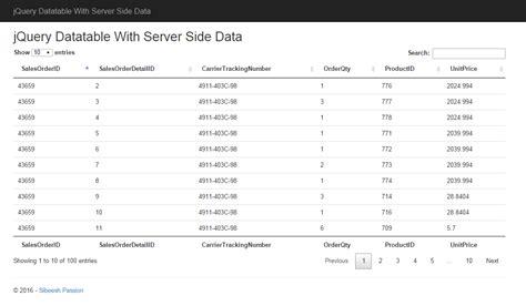 datatable search by datepicker server side jquery datatable with server side data codeproject
