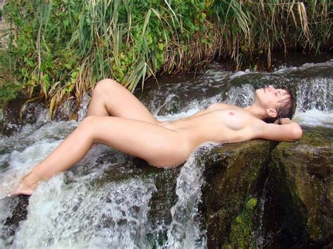 Russian Girl Posing Naked At Waterfall Russian Sexy Girls