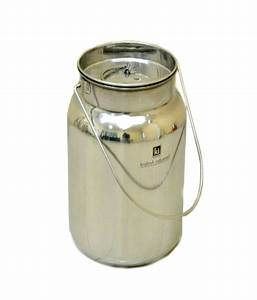 Krishna, Stainless, Steel, Milk, Can, With, Lid, -, 10, Liters, Buy, Online, At, Best, Price, In, India