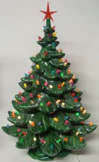 vintage ceramic lighted tree 24 inch