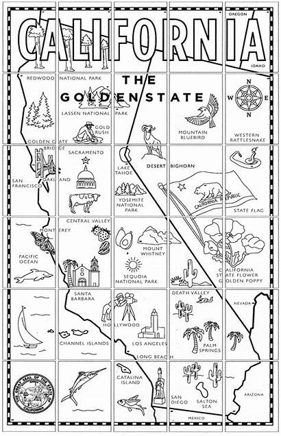 California Mural Missions Map Regions Printable State