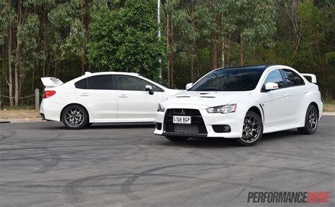 2016 Mitsubishi Lancer Evolution Vs Subaru Wrx Sti
