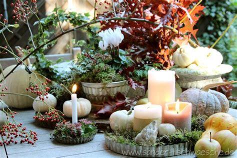 Herbst Garten Dekoration by Tischdeko Gartendeko Guglhupfform Garten Herbst