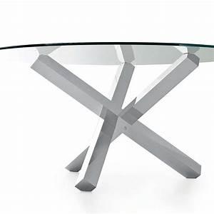 Table En Verre Ronde : table en verre design ronde aikido sovet 4 pieds tables chaises et tabourets ~ Teatrodelosmanantiales.com Idées de Décoration
