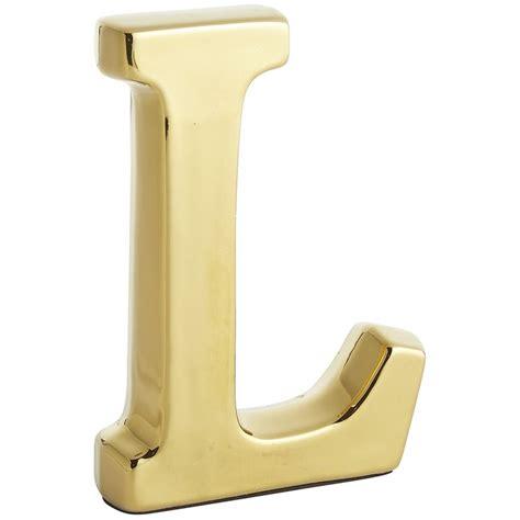monogram ceramic letter gold  earthenware decor house numbers letters pinterest