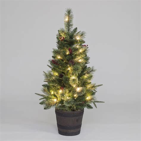 4ft pre lit elk mountain mix pe porch tree of christmas