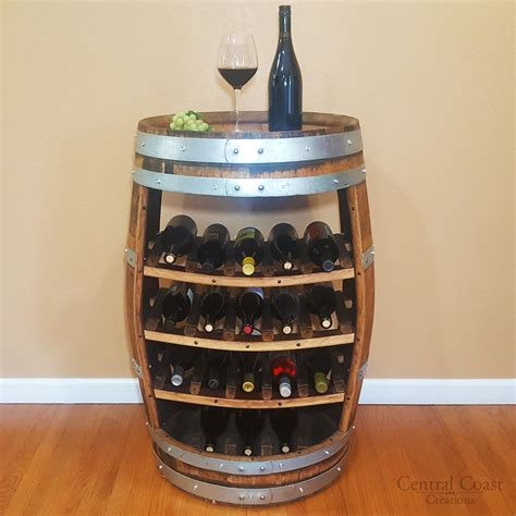 wine barrel shelf wine barrel 18 bottle wine rack free shipping central