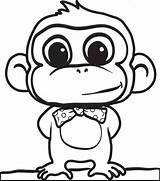 Monkey Coloring Head sketch template
