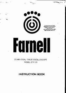 farnell dtv20 2x5mv20mhz 2x1mv10mhz oscilloscope sm With rf millivoltmeter