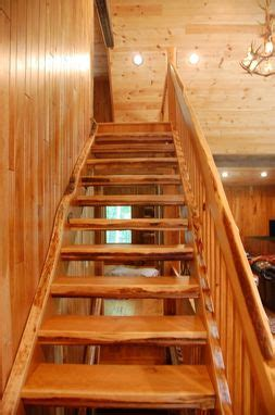 hand crafted cherry staircase   edge slab material