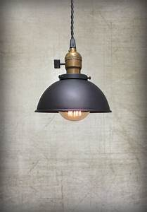 Ceiling pendant light black rustic metal hanging loft lamp