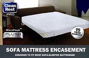 Clean rest pro sleeper sofa mattress encasement waterproof for Sofa bed mattress encasement