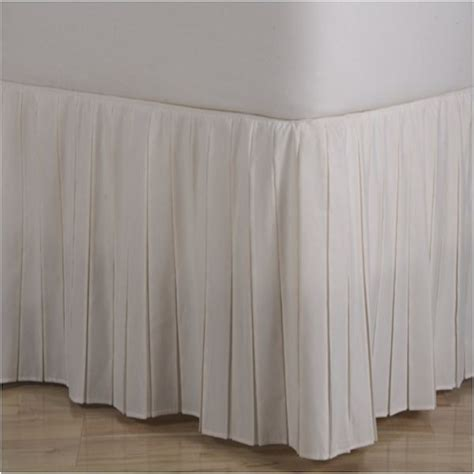 pleated bedskirt 14 quot and 18 quot drops