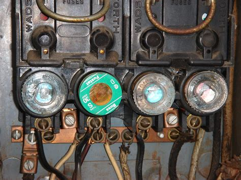 Electric In Fuse Box by Electrical Fuse Box A View Of An Electrical Box