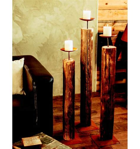 Kerzenständer Groß Holz by Edelrost Holz Kerzenst 228 Nder Gro 223 112 Cm Hoch 216 15 Cm
