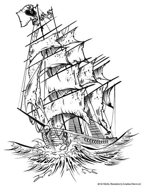 Classic Pirate Ship Tattoo Design