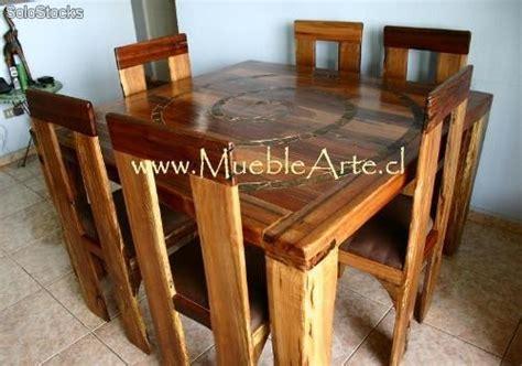 mesa comedor rustica    sillas