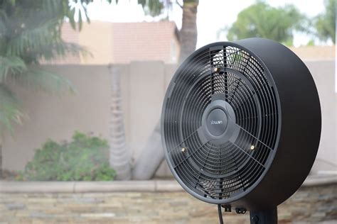 outdoor patio fans reviews outdoor oscillating fans wall mount
