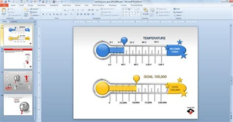 Fundraising Presentation Template by Animated Goal Chart Template For Powerpoint