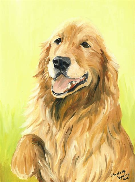 how to paint a golden retriever is a painting i created
