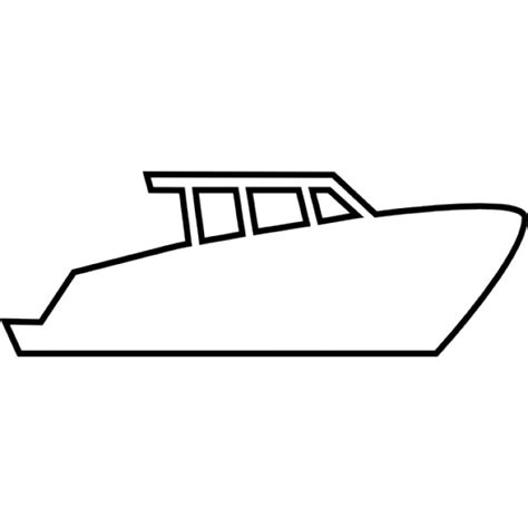 Motor Boat Outline by Vector Motor Yacht Vector Free