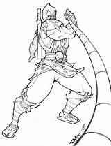 Mortal Kombat Coloring Pages Scorpion Printable Zero Sub Colouring Sheets Mk Draw Deviantart Drawing Coloringme Line Baraka Getcolorings America Scorpio sketch template