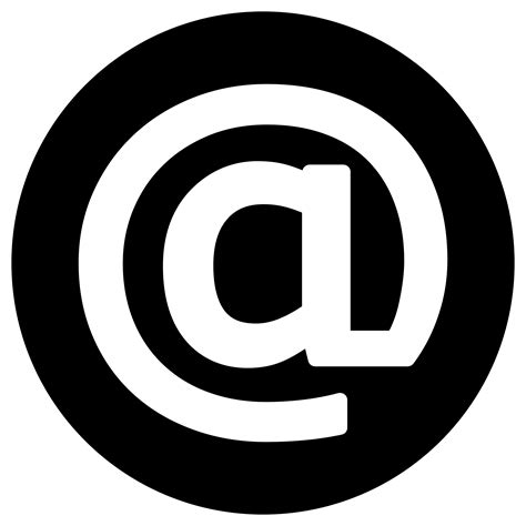 clipart email icon white on black