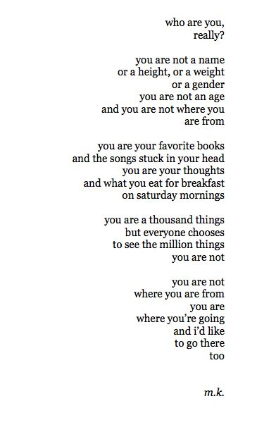 Poetry Who Are You Really?