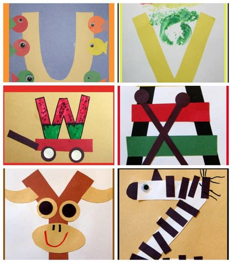 letter of the week crafts 825 | letter of the week art preschool uvwxyz 900x1024